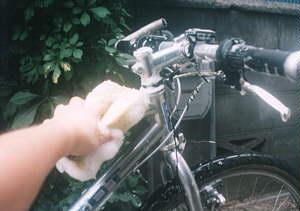 1自転車洗車